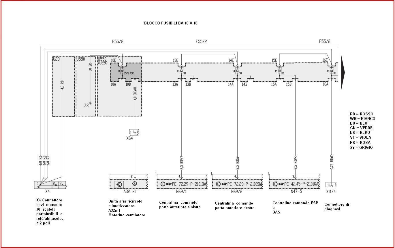 Schema Elettrico Ford Fusion : Schema elettrico chiusura centralizzata grande punto