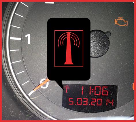 Strumentazione Audi Simbolo Antenna Nel Display Orologio Radiocontrollato Peugeot