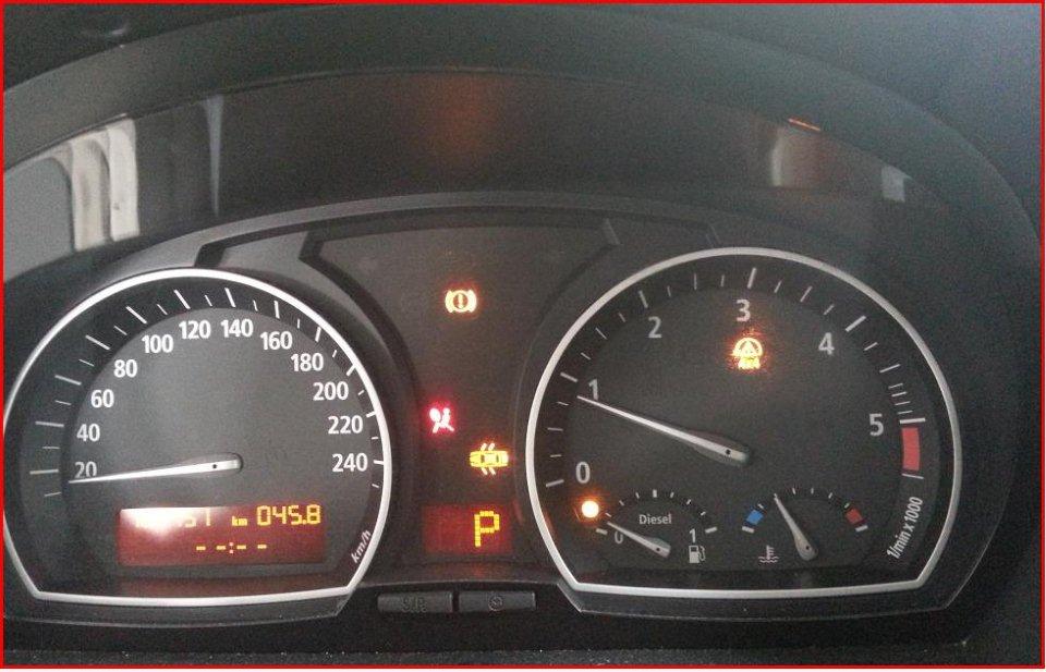 6e3e 6e3d Bmw X3 Spia Esp Accesa Spia Airbag Accesa