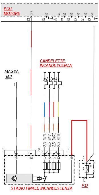 Schemi Elettrici Mercedes : Schema elettrico preriscaldo candelette