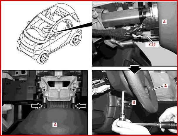 Schema Elettrico Smart 450 : Smontaggio rimontaggio stacco riattacco volante smart